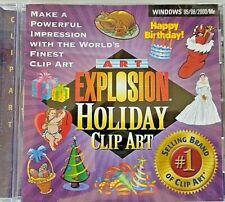 Art Explosion Holiday Clip Art & Hallmark Card Studio Express, 2 CD-ROM