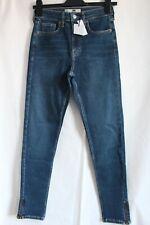 Topshop Moto Jamie Dark Blue Ripped Stretch Skinny Jeans W28 Size10 To Fit L32