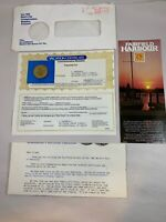 1982 World's Fair Knoxville Medallion with Letter Certificate Fairfield Harbour