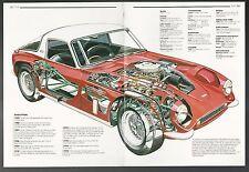 1967 (?) TVR TUSCAN SE  2-page Cutaway Illustration