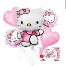 NEW HELLO KITTY Cute Cartoon Kids Birthday Party Balloon Set Decoration Girls US
