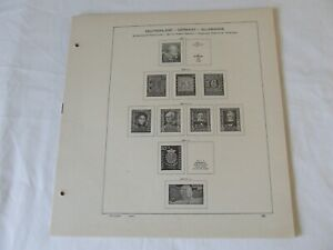 SCHAUBEK WEST GERMANY 1949-64 ILLUSTRATED STAMPS ALBUM PAGES