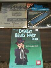 How To Play Harmonica Books x3 - How to Play Blues Harp & Chromatic Harmonica