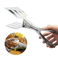 Food Tongs Large Fried Fish Bread Barbecue Clip Stainless Steel BBQ Tool Kitchen