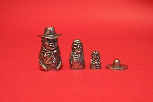 Cowboy & Indians Russian Doll Collectors Thimble Stacking Dolls Nostalgic Gift