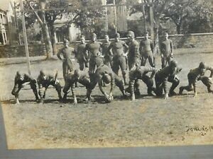 EARLY 1900'S  DOWLING UNIVERSITY FOOTBALL TEAM PHOTOGRAPH > FREE SHIPPING