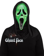 Fluorescent Green Ghost Face Scream™ Mask Adults Halloween Fancy Dress
