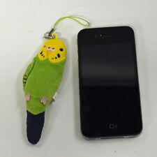 Parakeet (Green) Plush: Earphone Jack Accessory Screen Cleaner