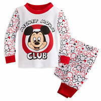 Disney Store Mickey Mouse Club Baby Boys PJ Pal Pajamas Size 0-3 3-6 Months NEW