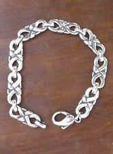 """James Avery Sterling Silver 8"""" Infinity Knot Unisex Bracelet"""