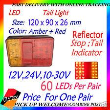 2x 12v 24v LED Tail Light UTE Trailer Caravan Stop Tail Indicator Reflector LED