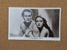 John Hall & Dorothy Lamour film star Real Photograph Postcard FS121 xc2