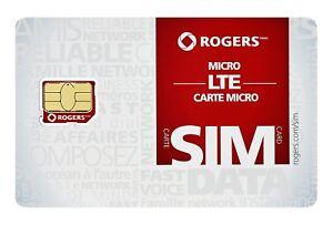 ROGERS MICRO SIM Card LTE Prepaid/Postpaid for iPhone/Samsung/LG/Blackberry