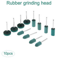 10 pc 4/5/6/8/10/12mm Rubber Polishers Polishing Burs Grinding Head Rotary Tools