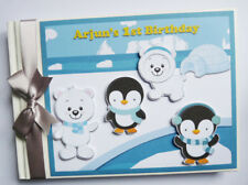 PERSONALISED ARCTIC ANIMALS PENGUINS POLAR BEARS BOY/GIRL BIRTHDAY GUEST BOOK