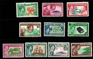 PITCAIRNS.1940 PICTORIALS SET(10).MNH.SG#1-10