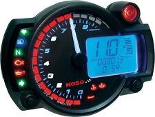KOSO GP STYLE MULTI-FUNCTION RX-2N GAUGE BLACK PANEL 10,000 RPM