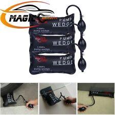 3× Inflatable Shim Air Pump Wedge Clamp Up Cushion Car Window Door Hand Tools US
