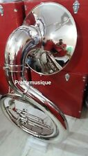 "SOUSAPHONE BIG 25"" BELL OF PURE BRASS METAL IN CHROME + CASE BOX +FREE SHIPPING"