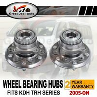 Pair Front Wheel Bearing Hubs Hub for Toyota Hiace KDH200 KDH220 KDH223 TRH221