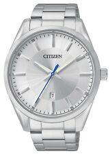 Citizen Men's BI1030-53A Quartz Date Silver-Tone Dial Bracelet 42mm Watch
