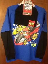 BOYS KIDS-SIZE Medium ( 8 ) ANGRY BIRD GO! T-SHIRT & BEANIE KNIT HAT COMBO