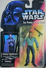 Star Wars POTF Lando Calrissian Figure Kenner 1995 Power of The Force Red Card