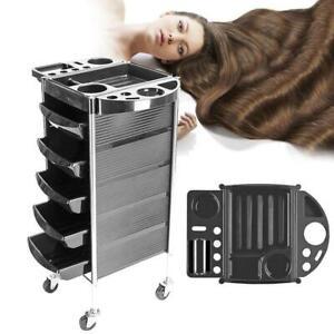 "35"" Beauty Salon Spa Styling Station Trolley Equipment Rolling Storage Tray Cart"