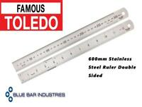 TOLEDO Stainless Steel Rulers Metric & Imperial Double Sided