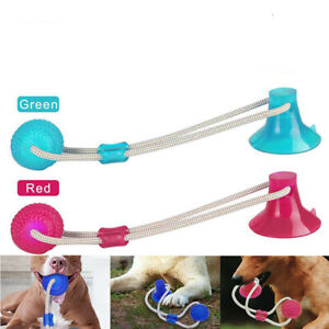 Dog Toys Floor Suction Cup with Ball Pet Teeth Cleaning Chewing Tug of War