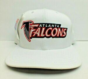 NFL VINTAGE ATLANTA FALCONS WHITE CAP 90'S SNAPBACK HAT RARE BY CHAMPION