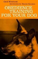 Obedience Training for Your Dog Cecil Wimhurst Paperback