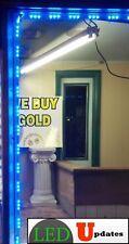 80ft Bright Blue Storefront LED LIGHT 5050 + UL 12v 150w Waterproof Power
