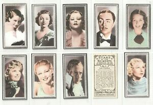 1936 Set 48  Stars of Screen (Not embossed) A series Coloured photographs(F87)