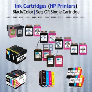 HP Cartridges HP Printers Sets lot or Singles Black/Color 60 61 62 63 64 65 XL