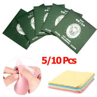 5/10Pcs Jewelry Polishing Cloth Cleaning For Platinum Gold and Sterling Silver