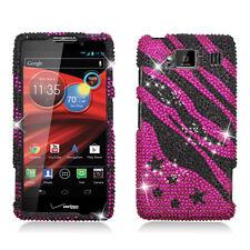 Hot Pink with Black Zebra Diamond Case for Motorola Driod Razr Maxx HD XT926M