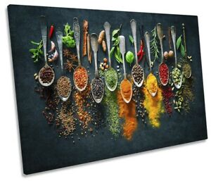 Herbs Spices Cooking Kitchen Print SINGLE CANVAS WALL ART Picture