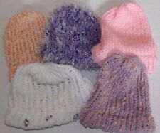 KNITTED BABY BEANNIE HATS *YOU CHOOSE COLOUR/STYLE* ONE SIZE