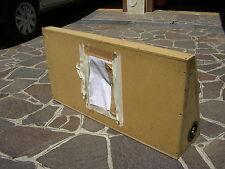 BOX  CHIUSO DA 35 LITRI CON FORO DA 25CM PER FIAT UNO ADATTABILE ALTRE AUTO