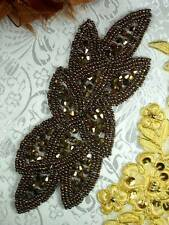 """JB31 Bronze Beaded Applique Motif 6"""" Sewing  Crafts 4000 items @ Glory's House ~"""