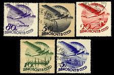Russia. Air Post Stamps. Soviet civil aviation. 1933 Scott C45-C49.