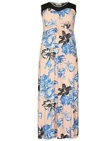 EMILY @ SIMPLY BE - PINK/BLUE/BLACK FLORAL MAXI DRESS - PLUS SIZES 16 - 20/22