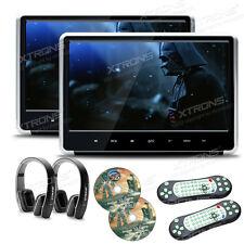 """2X11.6"""" Tragbare 1080P Full Auto Kopfstütze Monitor DVD Player HDMI+2 Kopfhörer"""