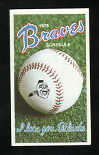 Atlanta Braves--1979 Pocket Schedule--Gulf Oil