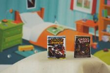 2 Miniature Vintage Opening 'Ghost Rider ' Comics - Dollhouse 1:12 scale