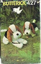 Vintage Butterick 427 Sewing Pattern for Large & Small Stuffed Basset Dogs uncut