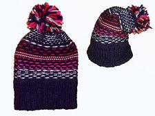 Ladies Hat Knitted Beanie Hat with Pompom schlumpfenmütze Pompom Hat NEW