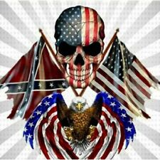 Diamond Painting American Skull Flags And Eagle Design Embroidery Lovely House