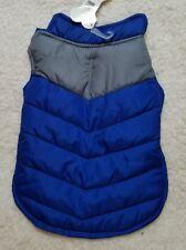 Dog Coat Jacket Small Blue Gray Stripe  puffer jacket Puppy New Apparel